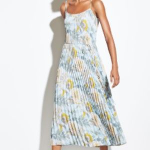 Vince Marine Garden Pleated Cami Dress (with tags)